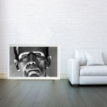 Frankenstein, Movie Poster Mosaic, Decorative Arts, Prints & Posters, Wall Art Print, Poster Any Size - Black and White Poster